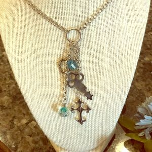 """Cross My Heart"" Necklace"